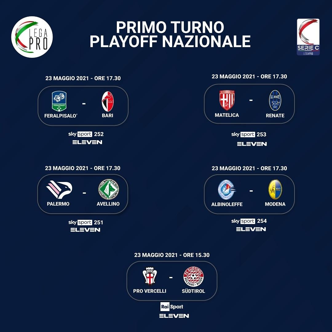 secondo-turno-play-ojff-serie-c-20-21 Playoff Serie C: al via il primo turno nazionale. In campo Balestrero (Matelica), Maritato (AlbinoLeffe),  Silva e Damonte (Renate)